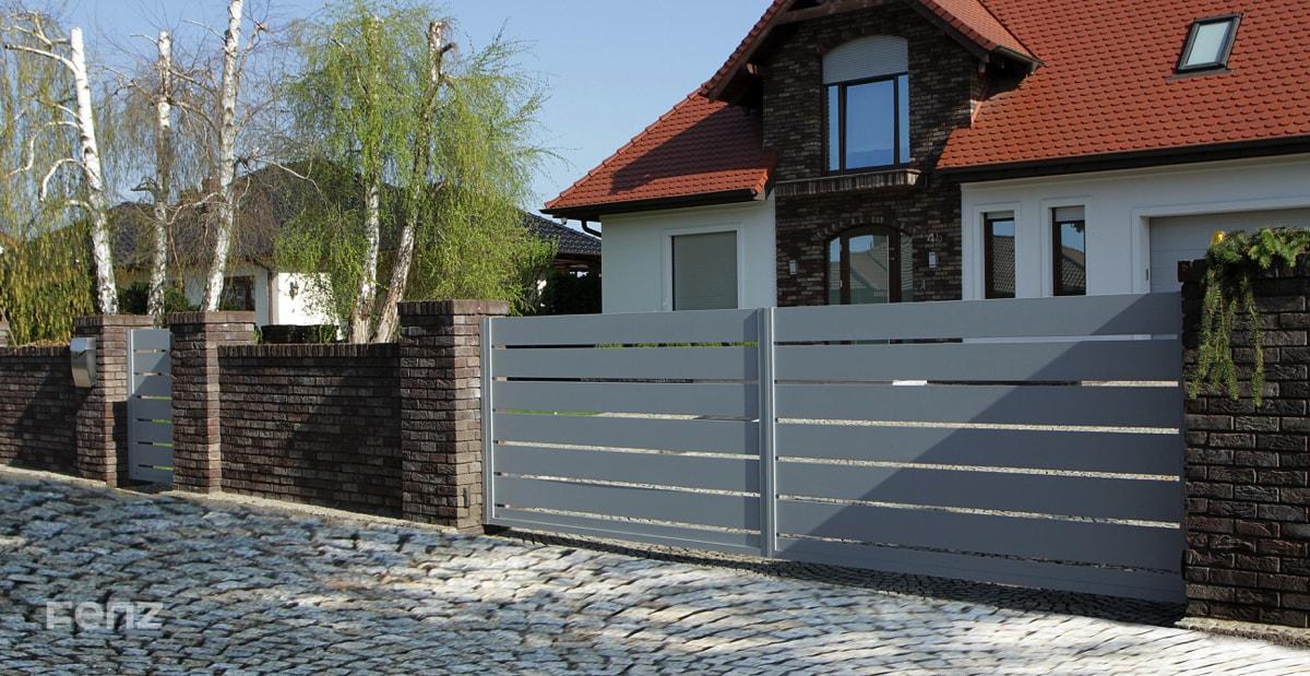Brama dwuskrzydłowa aluminiowa FENZ